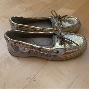 Sperry Top-Sider Angelfish Gold Snake Boat Shoes